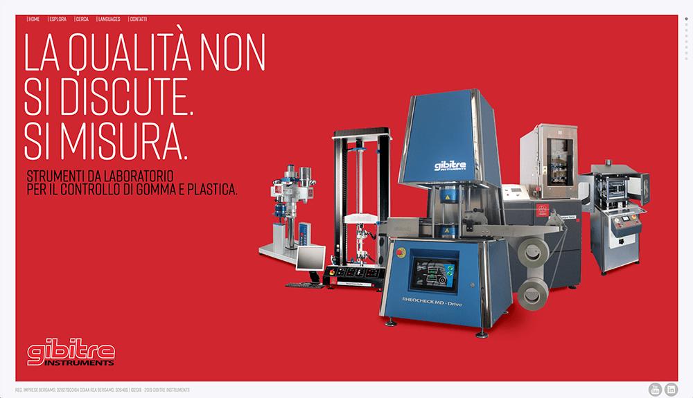 Gibitre Instruments nuovo sito Industriagomma