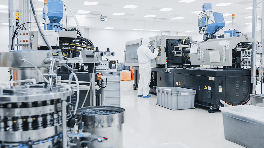 stampaggio a iniezione Blue Air System ambiente sterile industriagomma