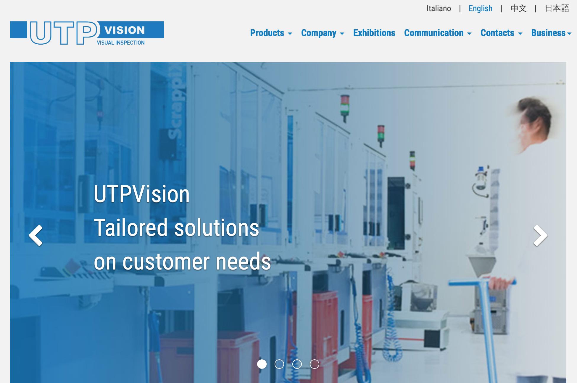 UTP Vision sito MaVix industriagomma